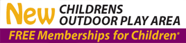 Childrens FREE membership and new outdoor play area