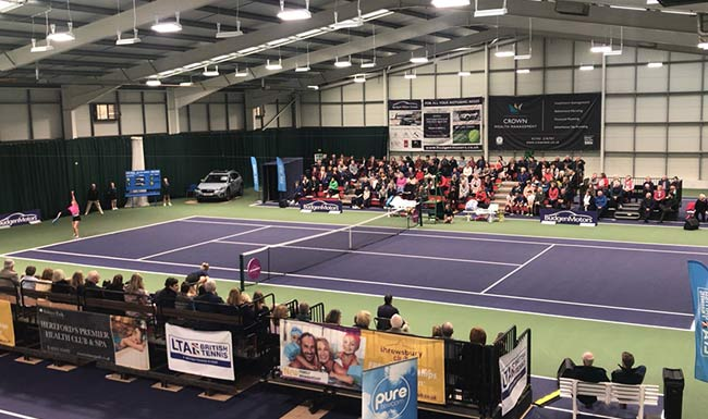 International tennis events at the Shrewsbury Club