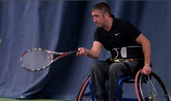 Wheelchair tennis at the Shrewsbury Club