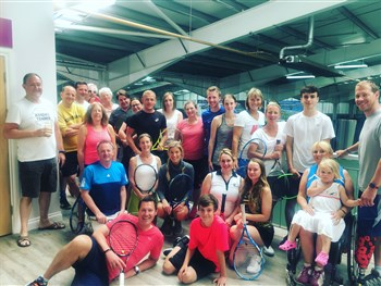 Brother and sister team up to win the Swan Hill House mixed doubles tennis tournament