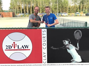 County law firm new sponsors of clay tennis courts at The Shrewsbury Club