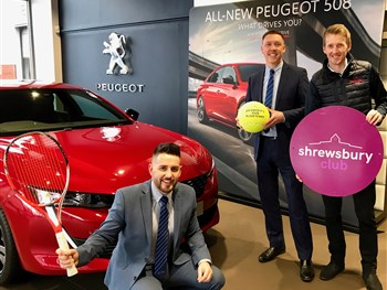 World Tennis Tour tournament attracts continued support of Shropshire car dealership...