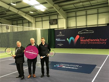 Fletcher Homes are moving in as a sponsor of the W60 Shrewsbury World Tennis Tour event