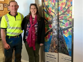 Lift doors given a bright new look as tree surgery company branches out by extending...