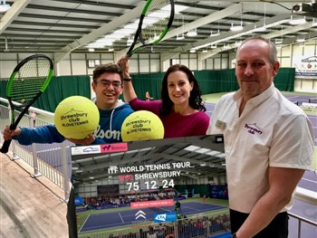 Tickets are now on sale for Shrewsbury's festival of tennis